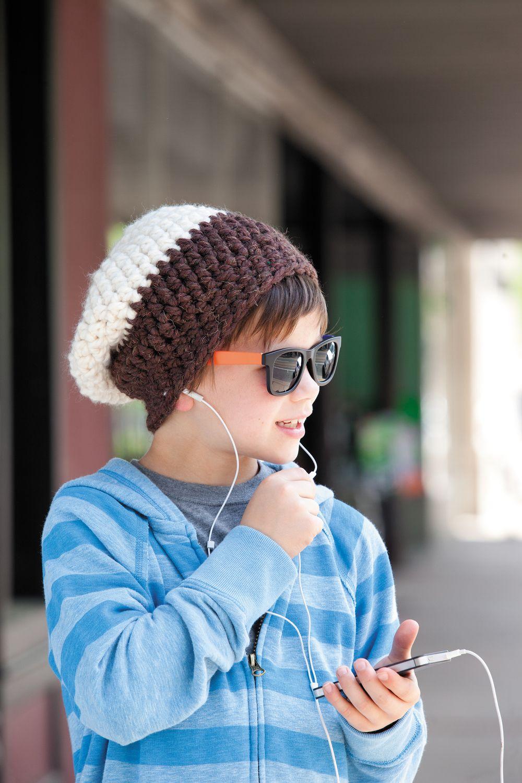 Junior Hipster Crocheted Beanie | Pinterest | Gorros niños, Gorros y ...