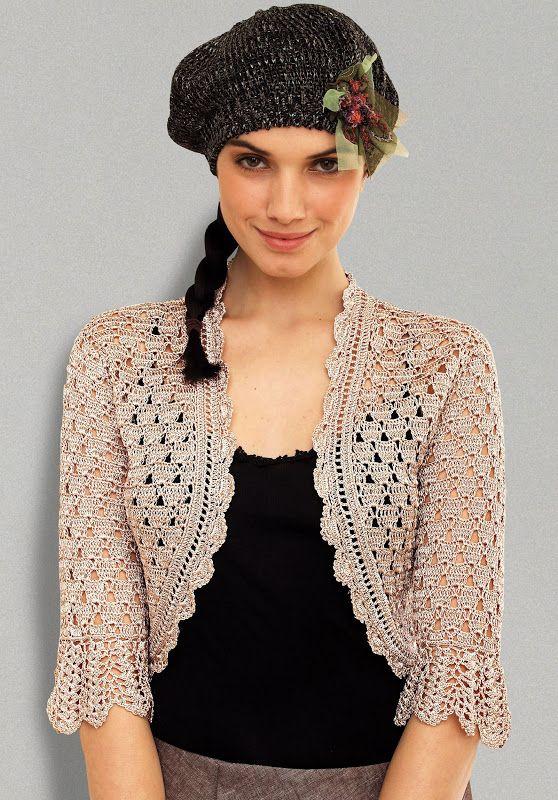 Mypicot Free Pattern For This Crochet Bolero Crochet Pinterest