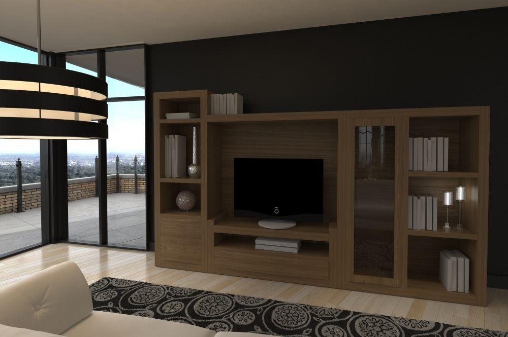 Neila roble 9 muebles para el sal n en madera maciza for Muebles lopez arevalo