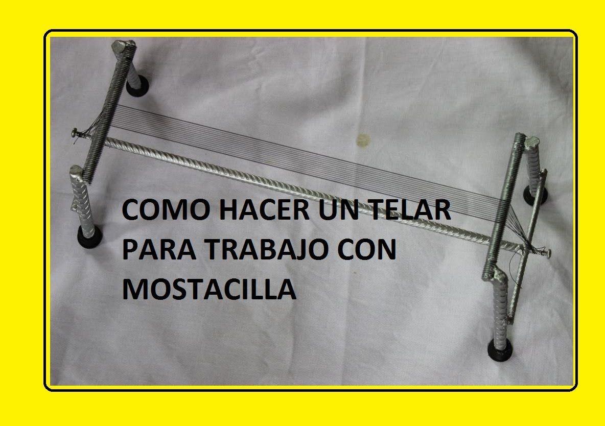 b44186453435 CURSO EN MOSTACILLA//COMO HACER EL TELAR PARA TRABAJO EN PULSERAS ...