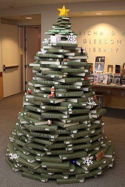 Arbol de navidad con libros ideas navide as pinterest - Arbol de navidad con libros ...