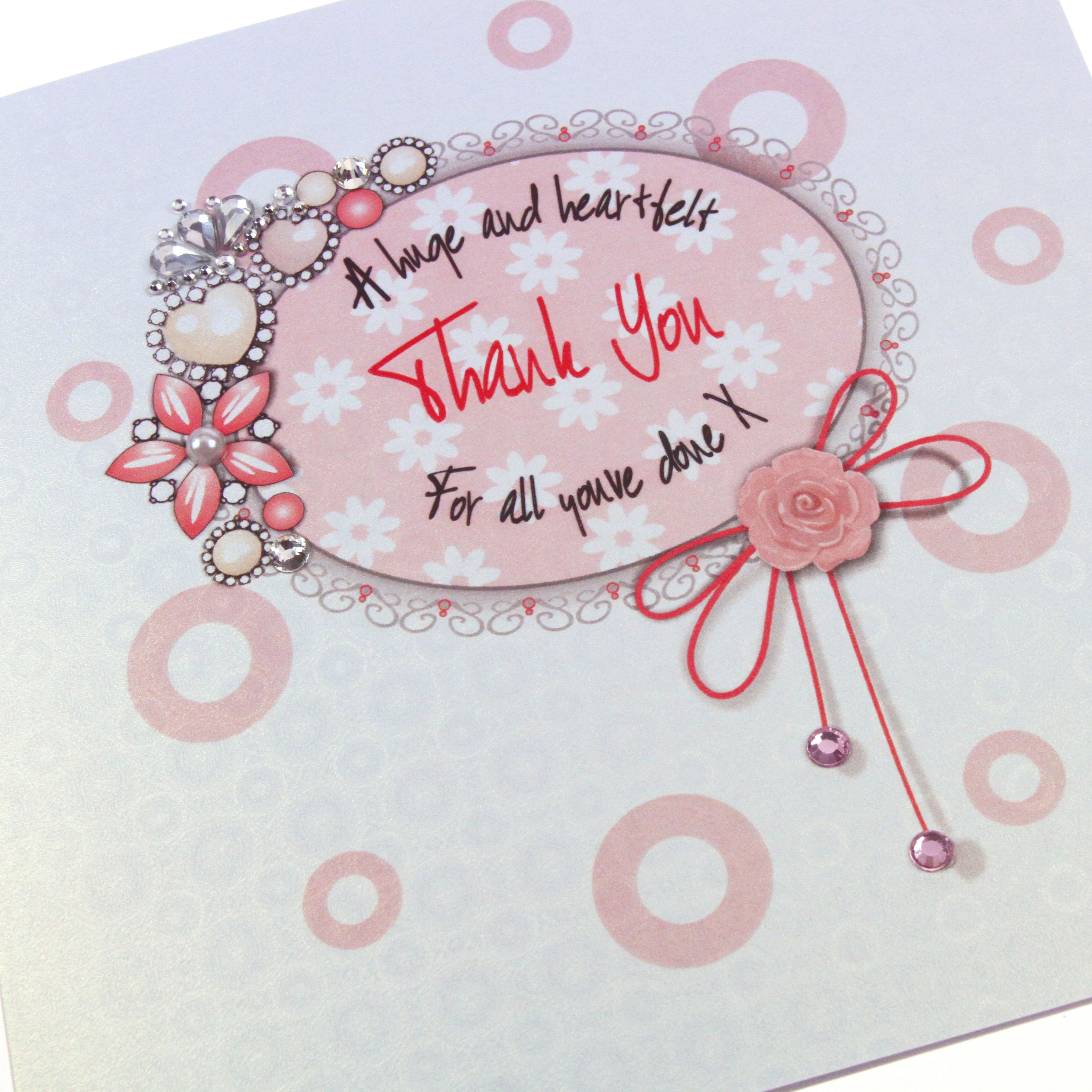 Handmade luxury thank you card royal vintage regal heirloom pink handmade luxury thank you card royal vintage regal heirloom pink sparkling crystals pearls ice gold shimmer kristyandbryce Gallery