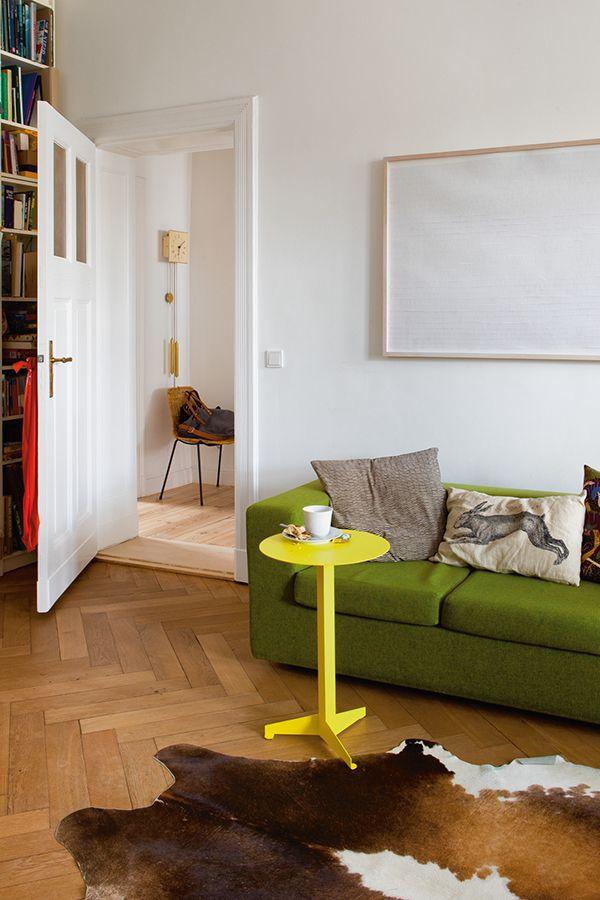 Tisch Construct, groß, Schwefelgelb RAL 1016 Wohnzimmer