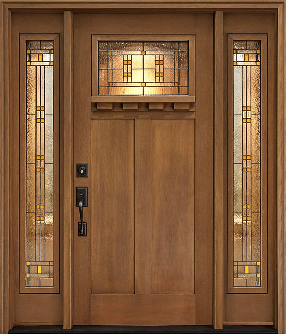 Great Make A Grand Entrance With Clopayu0027s Craftsman Collection Low Maintenance  Stained Fiberglass Fir Grain Entry