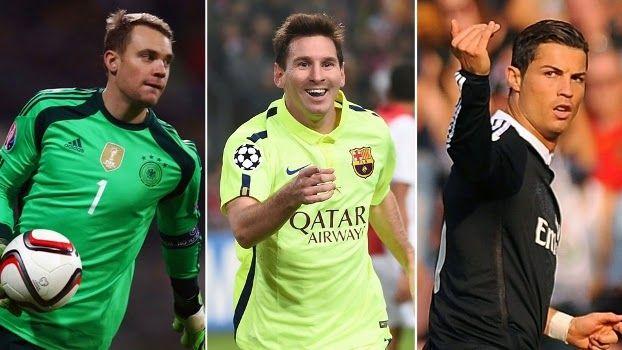 Blog Esportivo do Suíço: Cristiano Ronaldo, Messi e Neuer são finalistas do prêmio Bola de Ouro