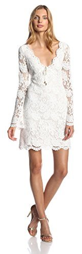 Juicy Couture Womens Scallop Lace Long Sleeve Dress