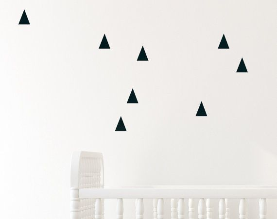 Black Wall Decals Triangle Wall Decor  Set of 25 par TheCutiePrints