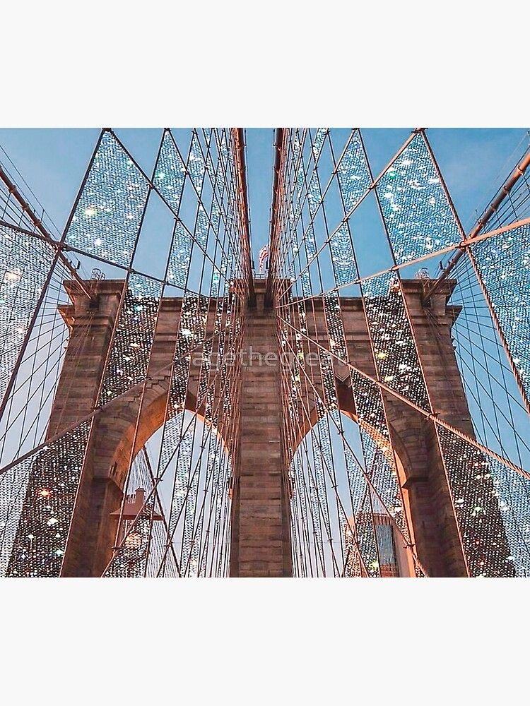 Brooklyn Bridge Print Vol 4 Wall Tapestry by ageth