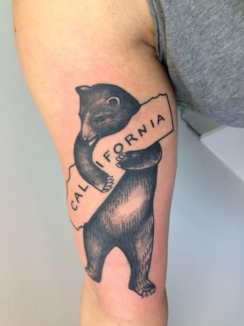 California tattoo ideas google search tattos for California bear tattoos