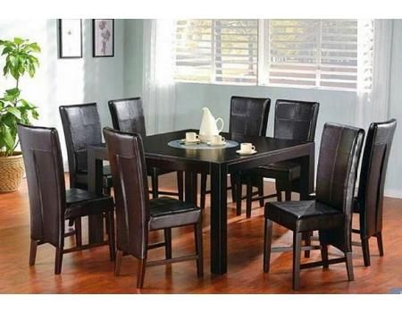 Square Dining Table Chairs For 8 By Coaster Modern Living Room