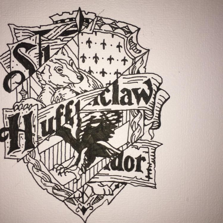 Harry Potter Houses Tattoo Slytherin Hufflepuff Ravenclaw And Gryffindor Ravenclaw Slytherin Home Tattoo