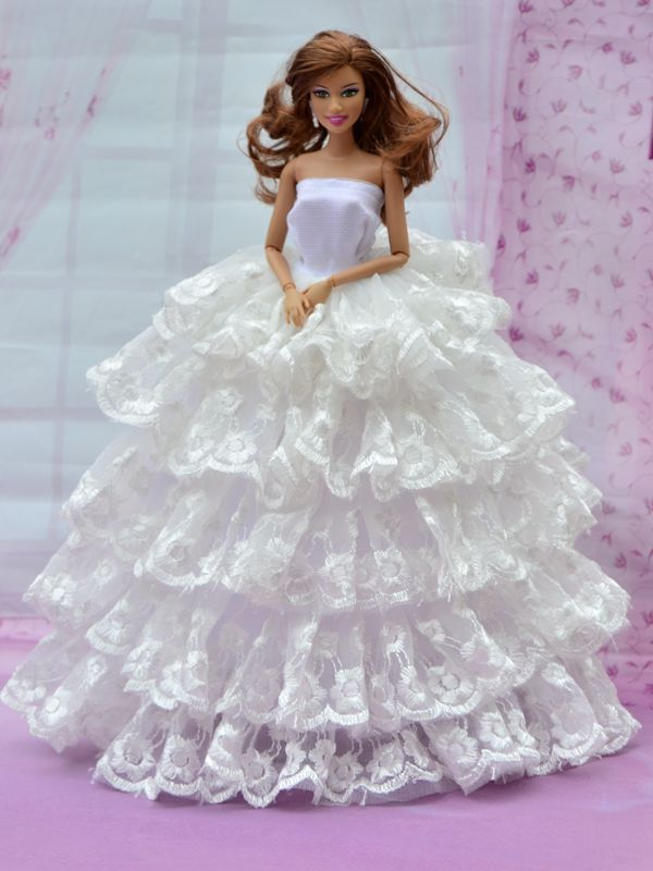 Barbie White Dress Wallpapers Free Download Barbie Ken Dolls