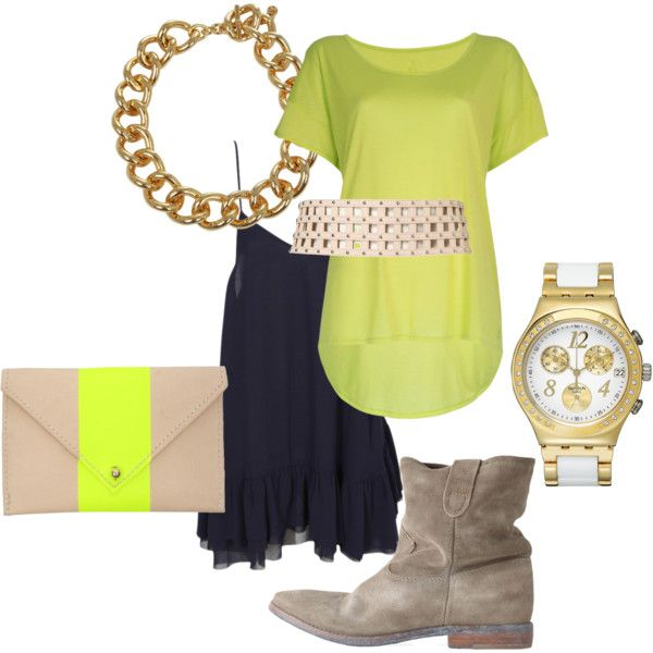"""""""Neon Yellow"""" by linda-slade on Polyvore"""