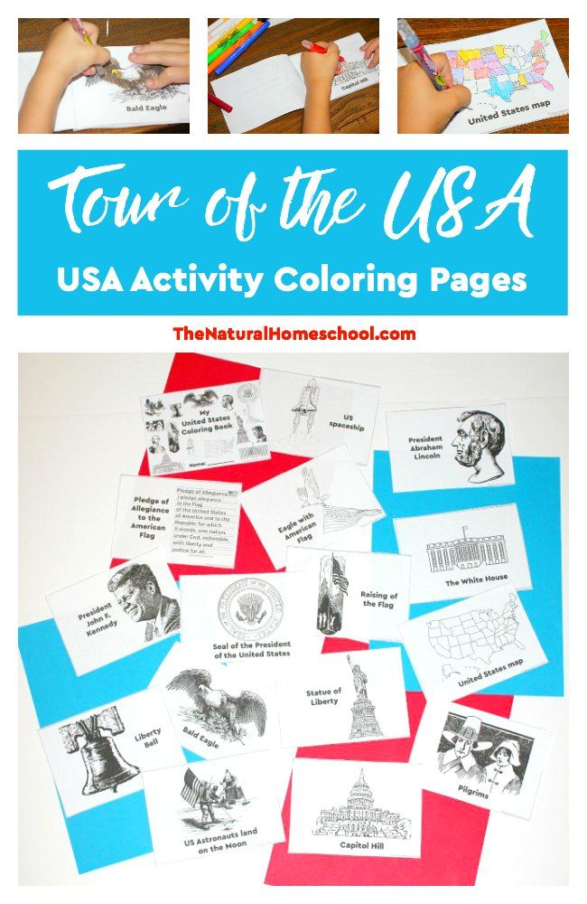 Tour of the USA - Printable US Activity Coloring Pages | Activities ...
