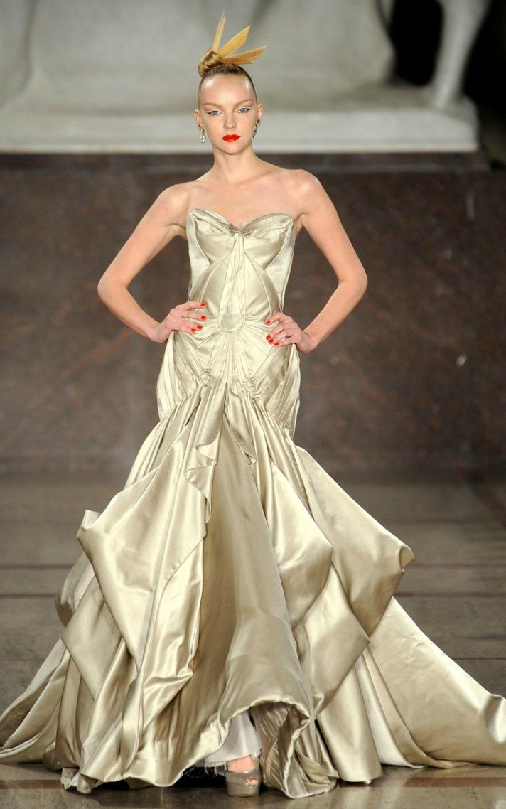 Zac posen wedding dress  Fall  RTW Favorites for  Brides  Zac posen Runway fashion