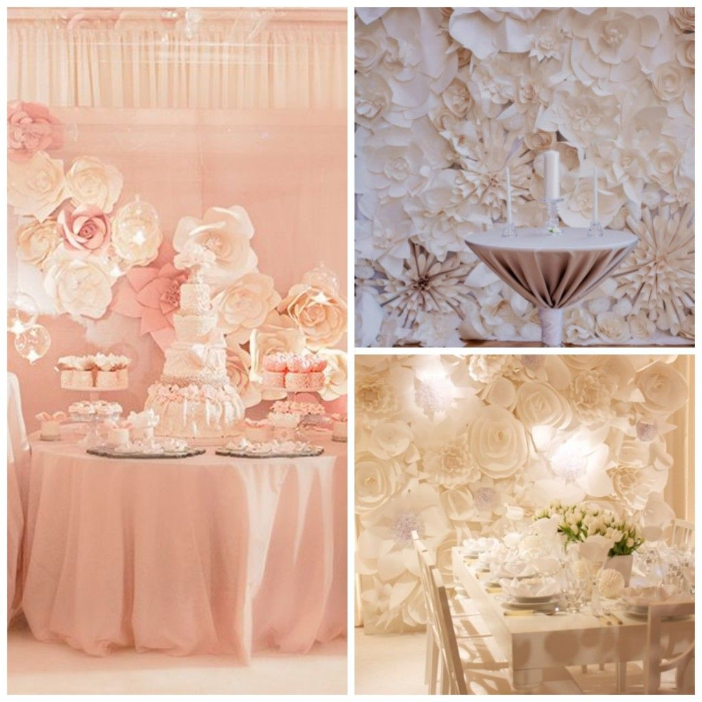 DiY Paper Flower Backdrop For Wedding And Events