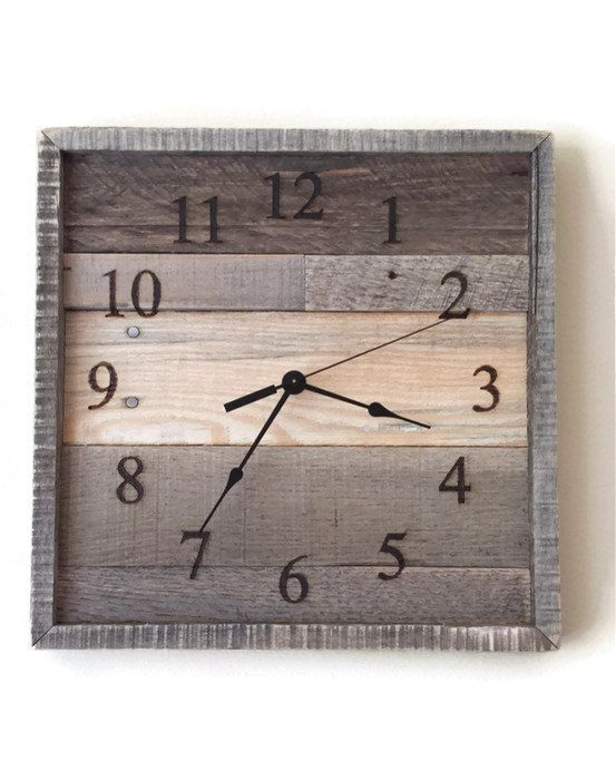 Pallet Wall Clock Rustic Home Decor Reclaimed Wood Rustic Wall