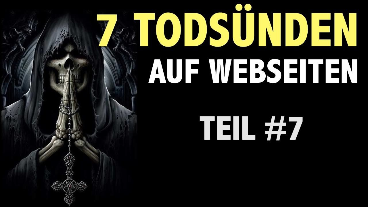 7 Todsünden auf Webseiten - Teil #7