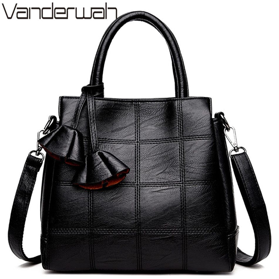 21bc46a4efb4 Click visit to buy. VANDERWAH Top-handle bags Leather luxury handbags women  bags designer tote bag high quality shoulder Crossbody bag SAC A MAIN ...