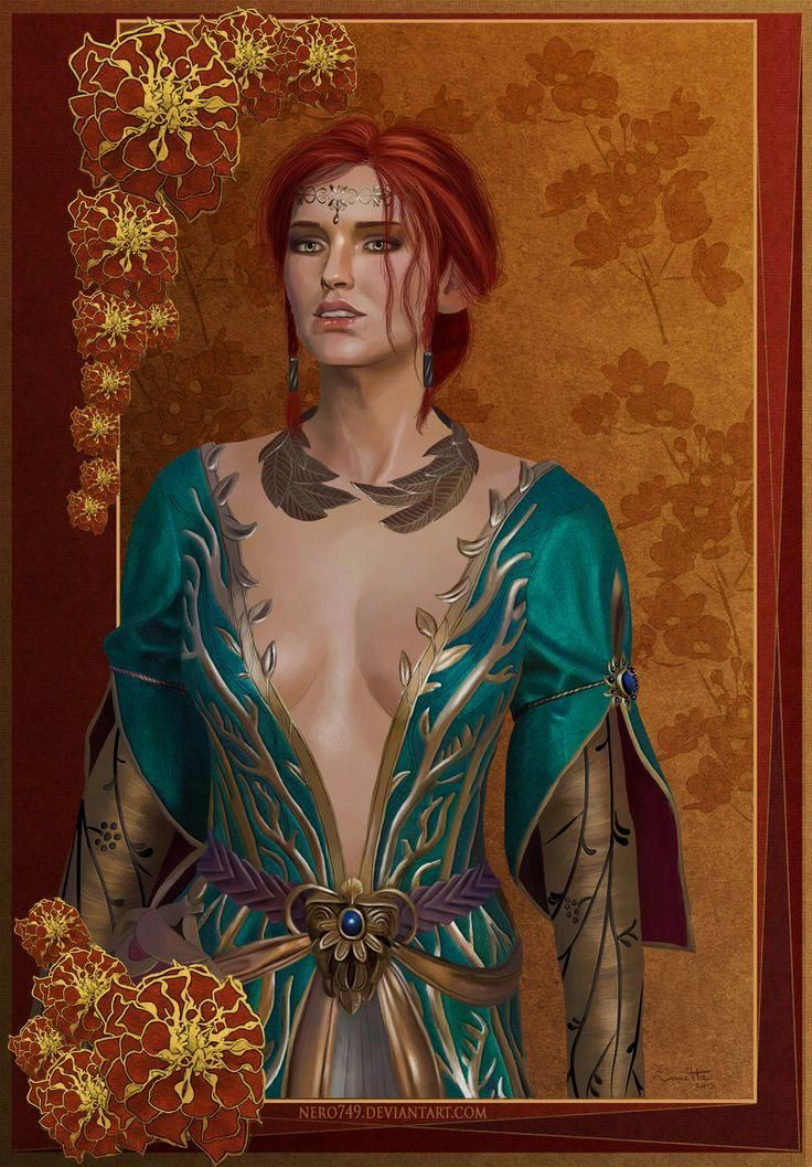 f Sorcerer noble urban city #The Witcher 3: Triss by Nero749 on @DeviantArt