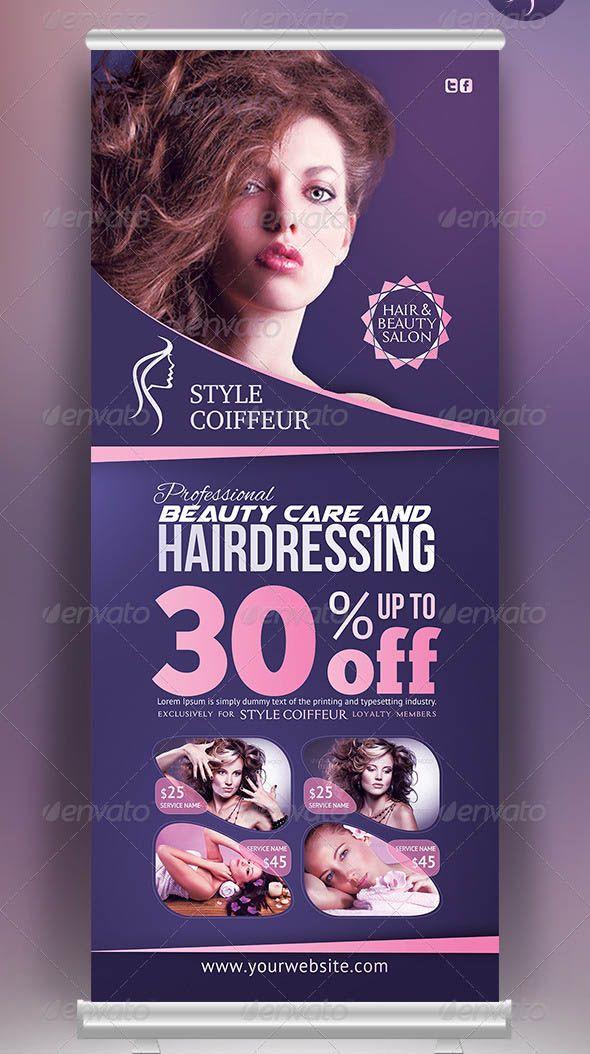 19 Cool Hair Salon Banner Signage Psd Hair And Beauty Salon Hair Salon Creative Hairstyles