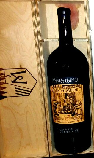 ARCHIMEDE by Marabino - um dos melhores e mais premiados vinhos Sicilianos -Itália.  www.chavesoliveira.com.br / ( 11 ) 2155 0871
