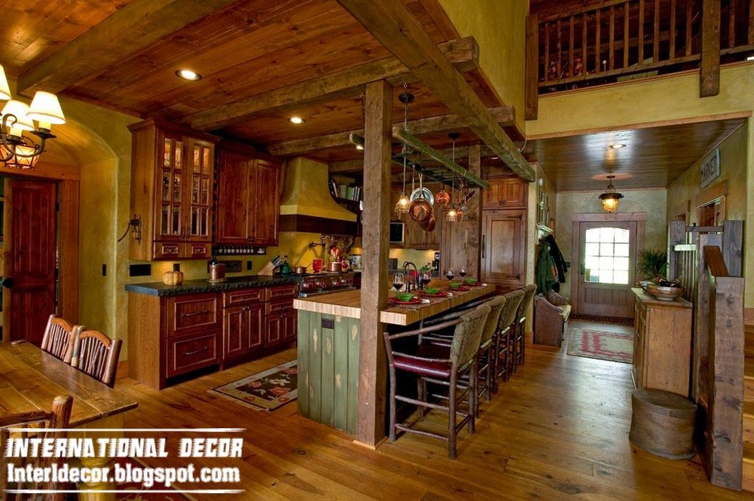 Found On Bing From Interldecor Blogspot In Rustic House Kitchen Design Decor Timber House