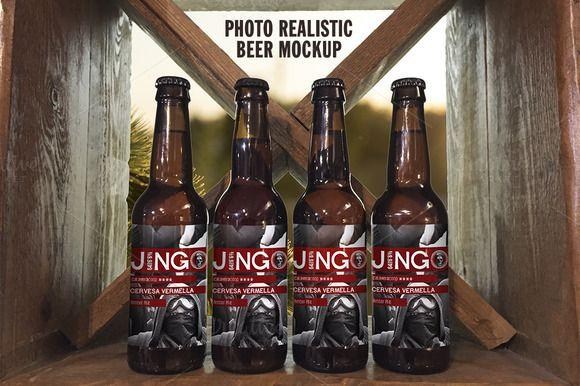 Photo Realistic Beer Mockup by PereEsquerrà on Creative Market