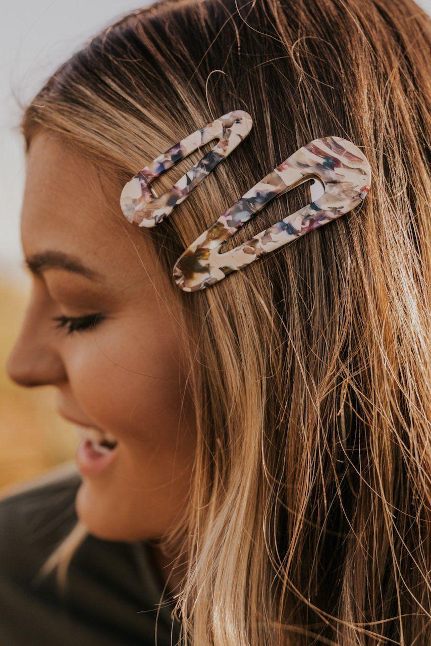 Teardrop Hair Barrette Set Stocking Stuffer Gift Ideas For Women Roolee Hair Barrettes Hair Clips Perfect Hair