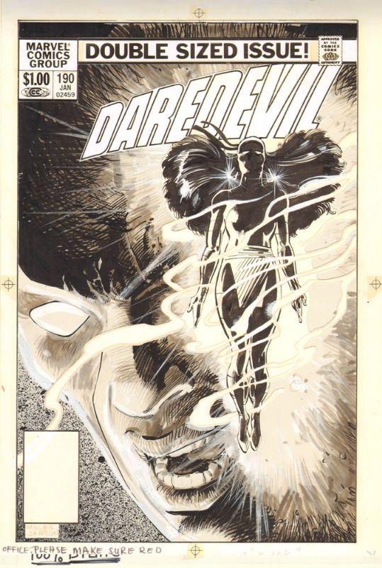 DAREDEVIL #190 COVER ( FRANK MILLER / KLAUS JANSON ) Comic Art