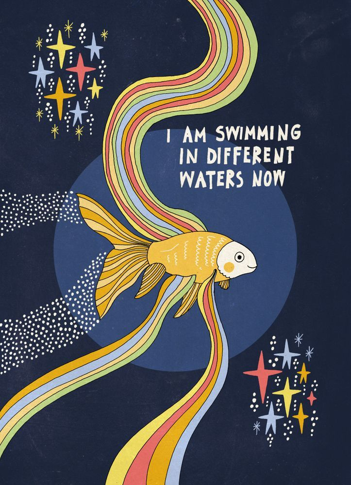 Swimming in different waters Mini Art Print by asjaboros