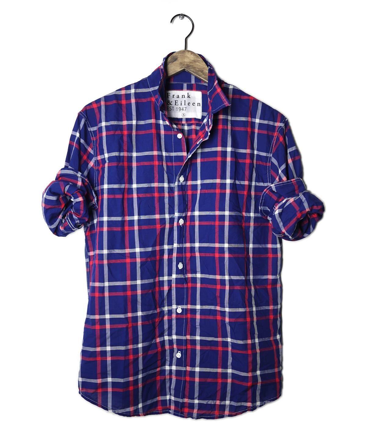 fa6fb2e4 Red, white and blue check shirt | Marvellous.Male.Fashion | Mens ...