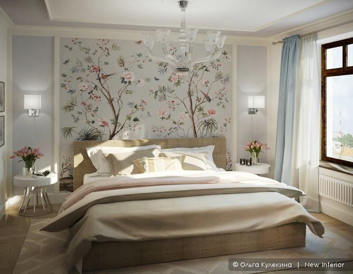 Варианты оформления спальни, дизайн интерьера спальни Спальня