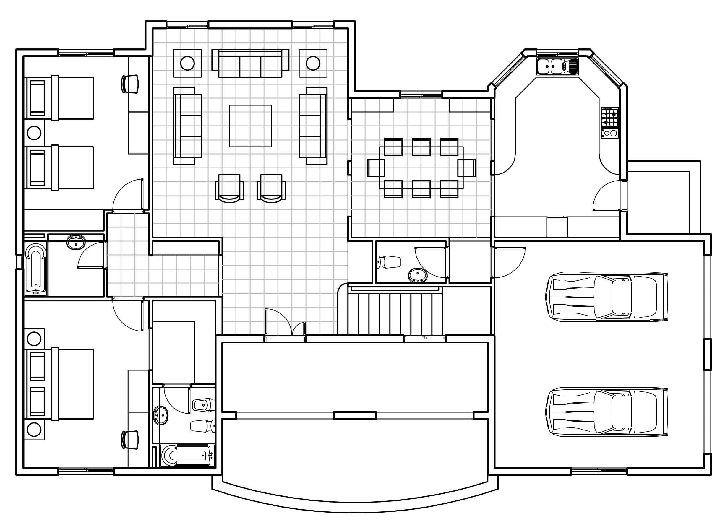 3d Architecture Drawing Google Search Home Plan Drawing Autocad House Floor Plans