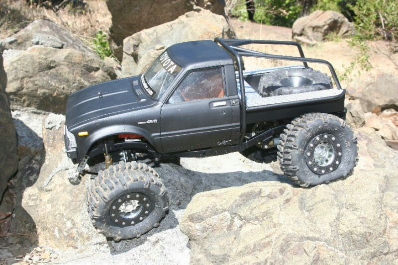 Custom rc scale trail truck with swamp dawg tires | rc crawlers