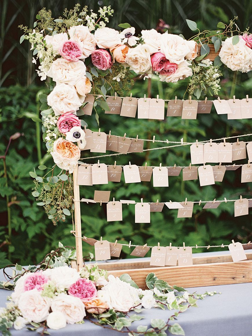 Wedding Ideas by Colour: Peach Wedding Table Plan Ideas - Garden ...