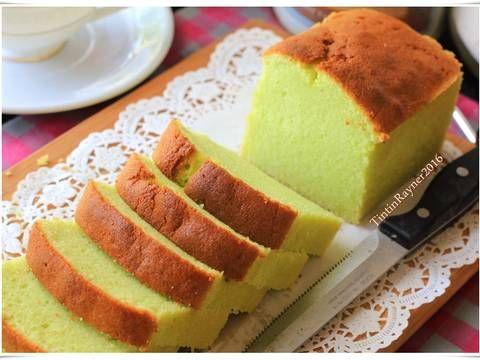 Resep Condensed Milk Pandan Pound Cake 5 Bahan Yummy Oleh Tintin Rayner Resep Kue Bolu Mentega Resep Bolu Pandan