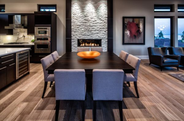 Dining Room Fireplace Ideas For Romantic Winter Nights  Dining Brilliant Basement Dining Room Design Inspiration