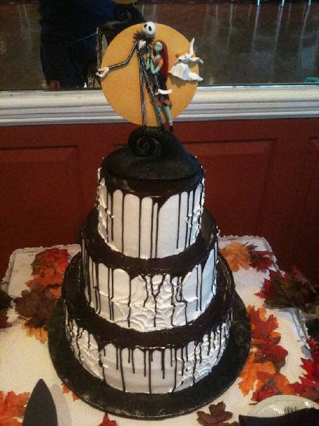 Wedding Cakes Pictures Nightmare Before Christmas Cake