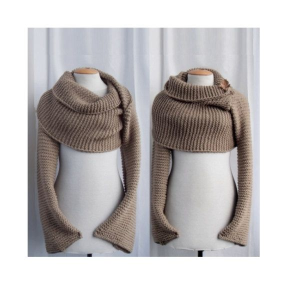Sweater scarf / shawl with sleeves at both ends. FREE WORLDWIDE ...