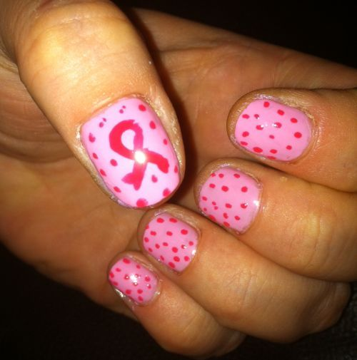 Breast Cancer Support Nail Art