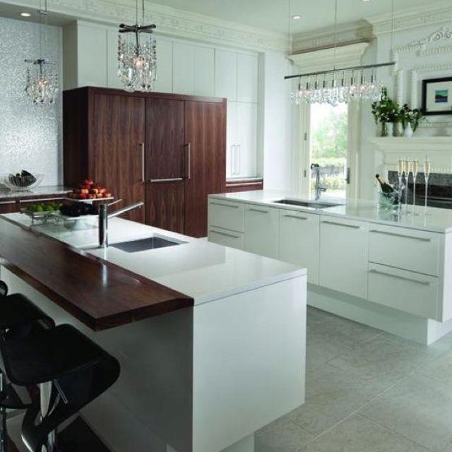 Contemporary Kitchen, White