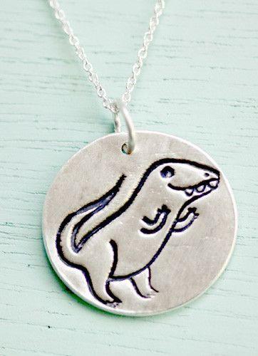 Silver Dinosaur (T-Rex) Necklace