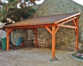Garage Bois Anjou 1 Pente 2 70 M X 7 M Gamme Cerisier Abris Voiture Bois