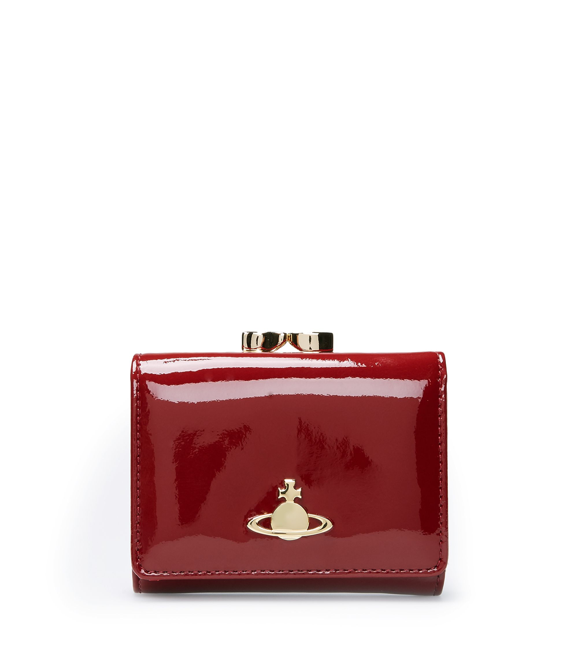 VIVIENNE WESTWOOD Bordeaux Mirror Ball 1311 Purse. #viviennewestwood #bags #patent #wallet #accessories #