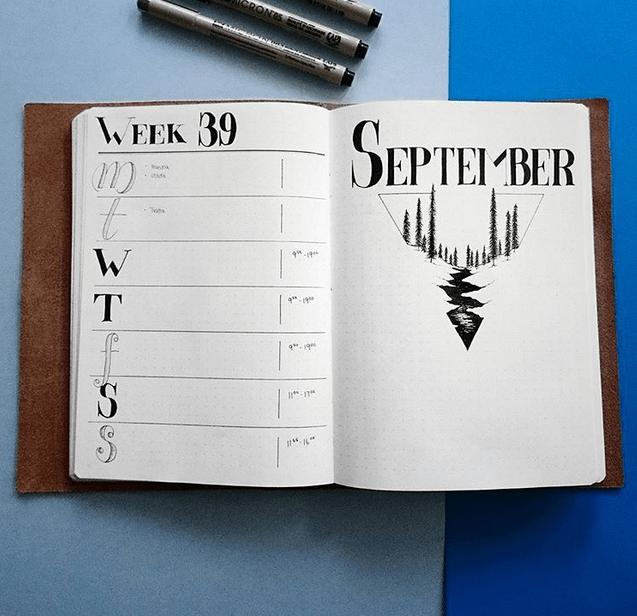 Bujo - 24 September Bullet Journal Layouts & Themes You'll LOVE #septemberbulletjournalcover