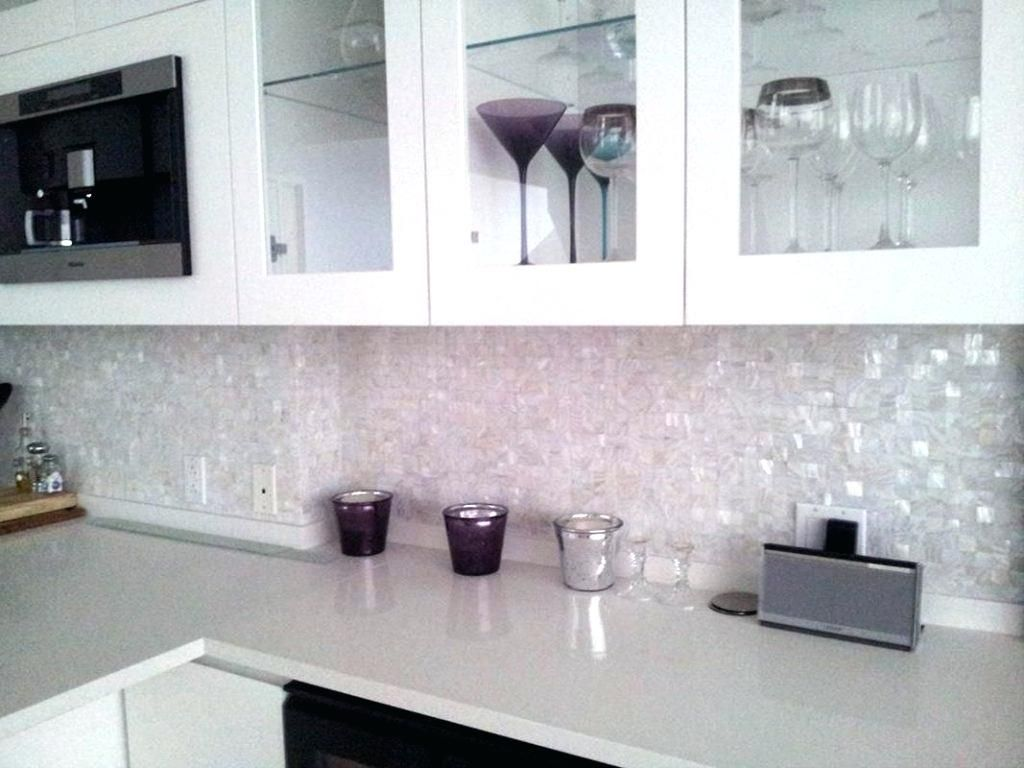 Iridescent Mosaic Tile Backsplash Iridescent Glass Tile White