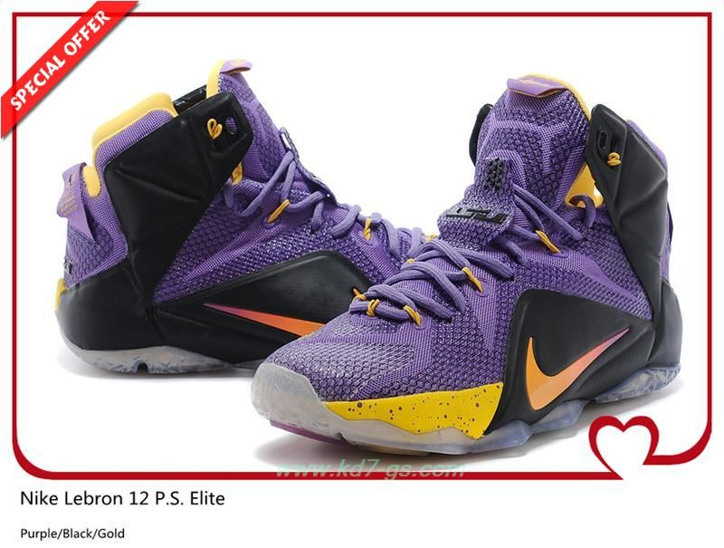 best loved db4ce a9da0 ... How To Get Cheap Purple Black Gold 650884-007 Nike Lebron 12 P.S. ...