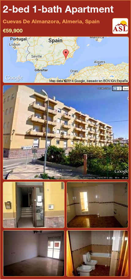2 Bed 1 Bath Apartment In Cuevas De Almanzora Almeria Spain 59 900 Propertyforsaleinspain Almeria Spain Espana