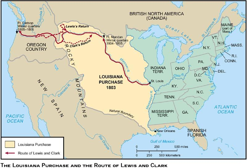Us In Map Globalinterco - Louisiana purchase and western exploration us history map activities
